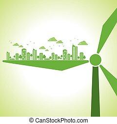 green earth- ecgreen eology concept