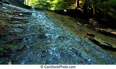 Shades State Park Silver Cascade - Water trickles down...