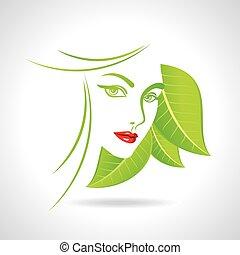 Green eco friendly icon