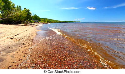 Lake Superior Beach Shoreline - Lake Superior is the largest...