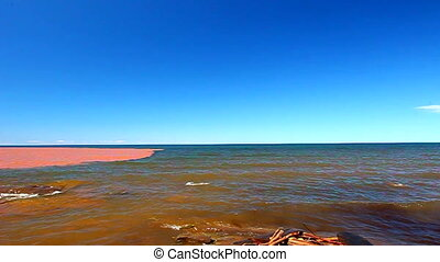 Lake Superior After Rainstorm - The muddy Big Iron River...