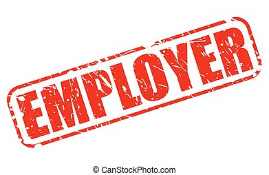 EMPLOYER RED STAMP TEXT