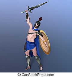 Gladiator - 3D CG rendering of a gladiator