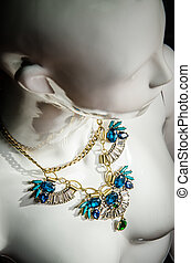 Mannequin with luxury necklace