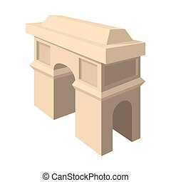 Triumphal arch icon, cartoon style - Triumphal arch icon in...