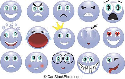 emotions - icon depicting the various emotions
