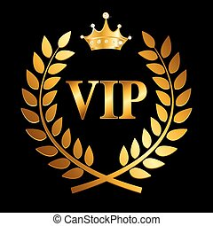 Gold Award Laurel Wreath with Crown and VIP Label Winner...