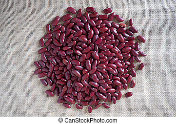 red beans on canvas
