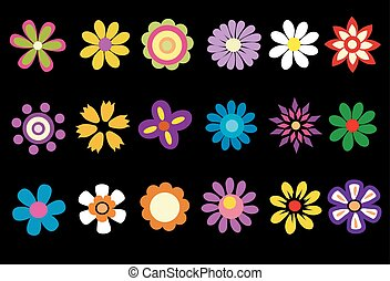 201colorful spring flowers vector