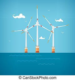 Wind Turbines in the Sea, Horizontal Axis Wind Turbines in...