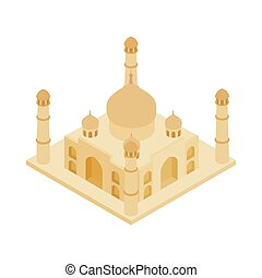 Taj Mahal in India icon, isometric 3d style - Taj Mahal in...