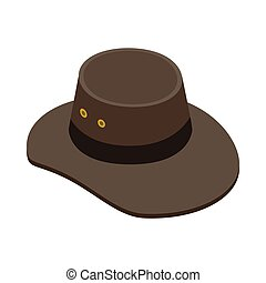 Cowboy hat icon, isometric 3d style
