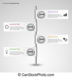 Time line info graphic with design flags template