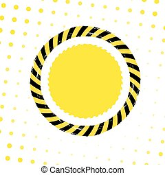 Danger Tape Background - Danger tape circle banner on a...