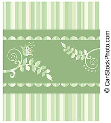 Eco greeting card & seamless border