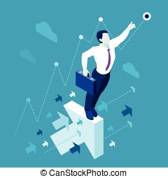 Business Graph  People Isometric