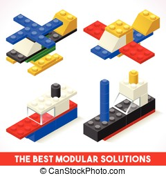 Toy Block Plane Ship Games Isometric - The Best Modular...