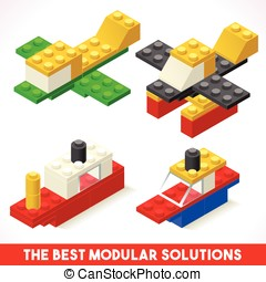 Toy Block Ship Plane Games Isometric - The Best Modular...