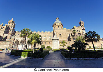 The Cathedral of Palermo - The beautiful view of the...