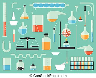 Chemical laboratory equipment - Set of chemical laboratory...