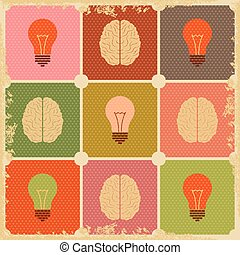 vintage Creative Brain idea