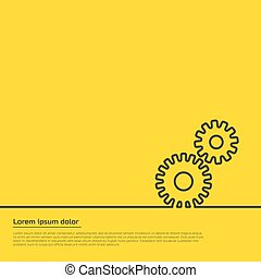 gears infographic template. For web, illustration template...