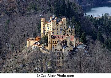 Hostoric Castle Hohenschwangau in Bavaria, Germany