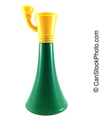 green horn - toy horn - Horn icon on white background