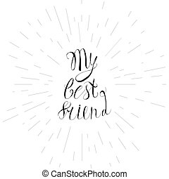 Vintage friendship lettering - Vintage hand drawn friendship...