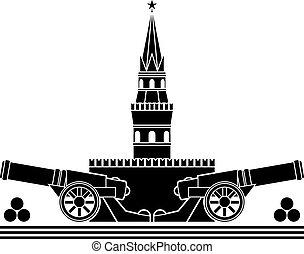 stencil of russian kremlin. vector illustration
