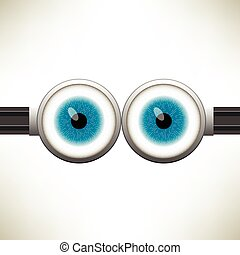 Vector Goggle with Two Blue Eyes
