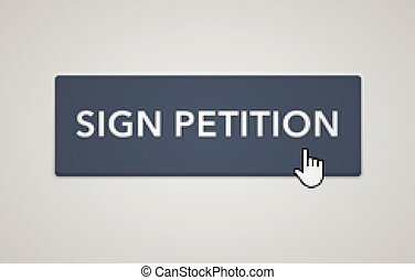 Online petition button - vector illustration of online...