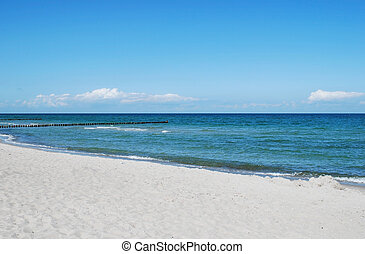baltic sea - beach of the german baltic sea