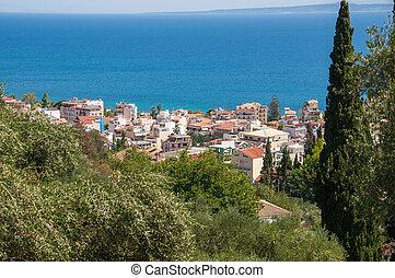 View of Zante town on Zakynthos - View of Zante town,...
