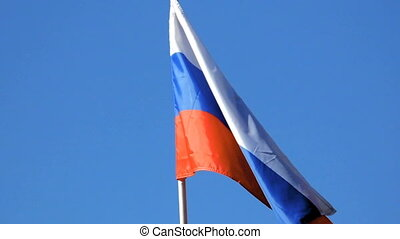 Flag of the Russian Federation - The Russian flag develops...