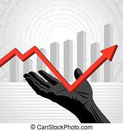 Overcome the Crisis vector