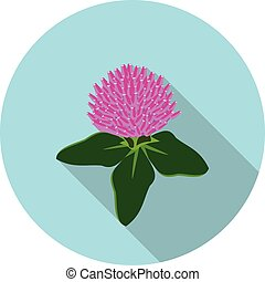 flat icon flower clover in vector format eps10