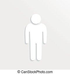 Person white paper. 3D design graphic