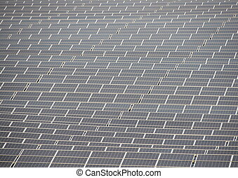 Sun Solar Cell Outdoor Industrial Plant Background - Sun...