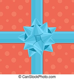 Vector gift wrapping with bow