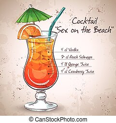 Sex on the Beach mixed drink