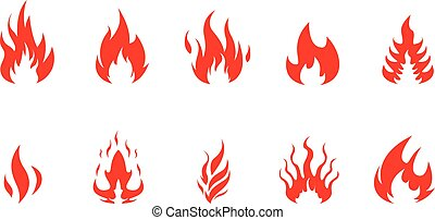 Red Fire Vector Set