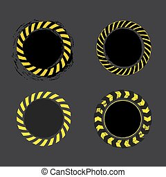 Danger Tape Banner - Danger tape yellow and black circle...