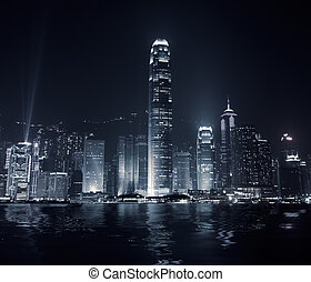 City landmark of Hong Kong - Landmark of Hong Kong with...