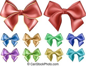 Colored bow set