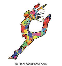 Sketching of female dancer