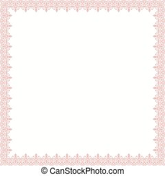 Floral Vector Fine Frame - Classic vector pink square frame...
