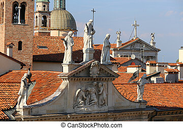 Saint Vincent Church in Italy from basilica palladian -...