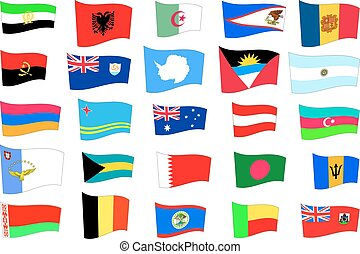 flags of the countries and states