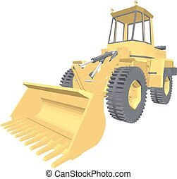Bulldozer 3D projection vector.